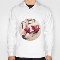 vespa Hoodies featuring vespa by iokk
