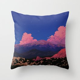 Sunset at Garden of the Gods Throw Pillow