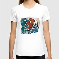 comic T-shirts featuring Hokusai comic by Nxolab
