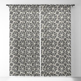 STACK attractive black & off-white squares with floral motif Sheer Curtain