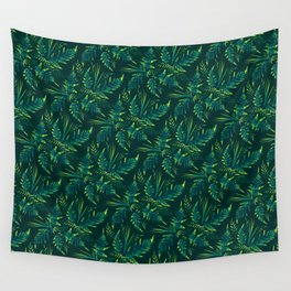 Fern leaves - green Wall Tapestry