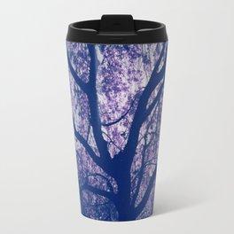 Cherry Blossom Blue Travel Mug