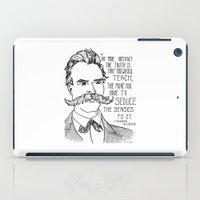 nietzsche iPad Cases featuring Friedrich Nietzsche by Alexandra Ensign