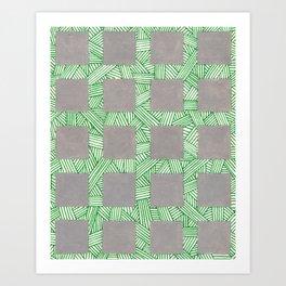 Mondo Grass and Pavers Art Print