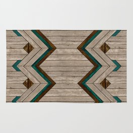 Wood mix mexican Rug
