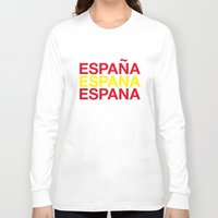 spain Long Sleeve T-shirts featuring SPAIN by eyesblau