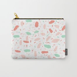 Abstract minimal dots polka dots painted sprinkles trendy modern color palette Carry-All Pouch