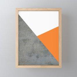 Concrete Tangerine White Framed Mini Art Print