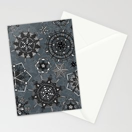 mandala snowflakes metal Stationery Cards