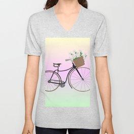 Bicycle Daisies Unisex V-Neck
