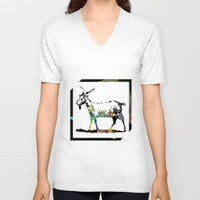 goat V-neck T-shirts featuring Goat by LoRo  Art & Pictures