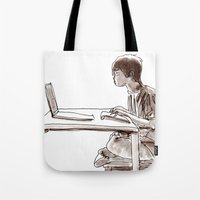 gamer Tote Bags featuring Gamer by Jonas Ericson