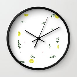 Just Roll With It Funny Cook Book Pattern Gift Wall Clock