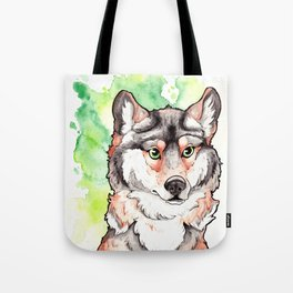 Mexican Gray Wolf Bust Tote Bag