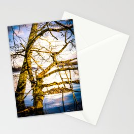 Real Life Ladders Game At Möhne Reservoir Lake bright Stationery Cards