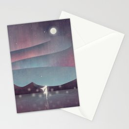 Descendant Of The Northern Lights Stationery Cards