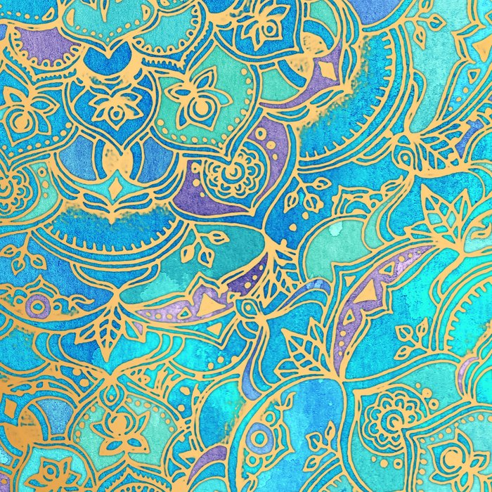 Sapphire & Jade Stained Glass Mandalas Leggings