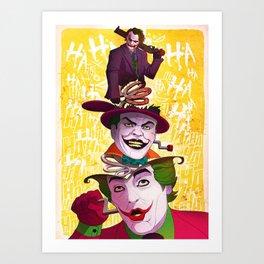 The Popping Joker Art Print