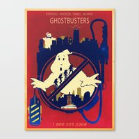 ghostbusters Canvas Prints featuring Ghostbusters by Jared Andolsek