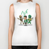 power rangers Biker Tanks featuring Power Rangers Legacy: Jason David Frank by HWM Designs