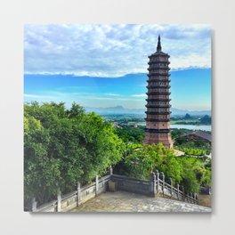 Chua Bai Dinh Pagoda, Vietnam Metal Print