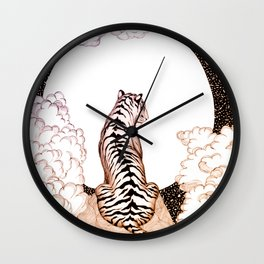 Tiger Moon Glow Wall Clock