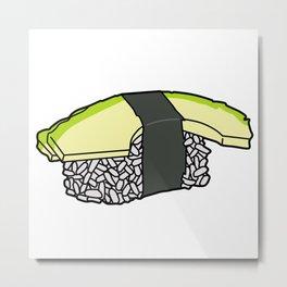 Avocado Nigiri Metal Print