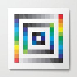Rainbow Squares Pattern Metal Print