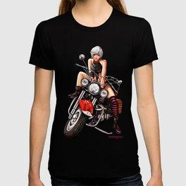 Motorcycle pinup T-shirt