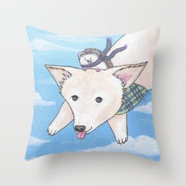 Biddy and Charlie Throw Pillow
