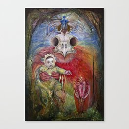 The Surrogate Mother-Goddess of Wisdom holding Alter-Ego Baby Bogomil Canvas Print