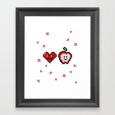 LOVE APPLE Framed Art Print