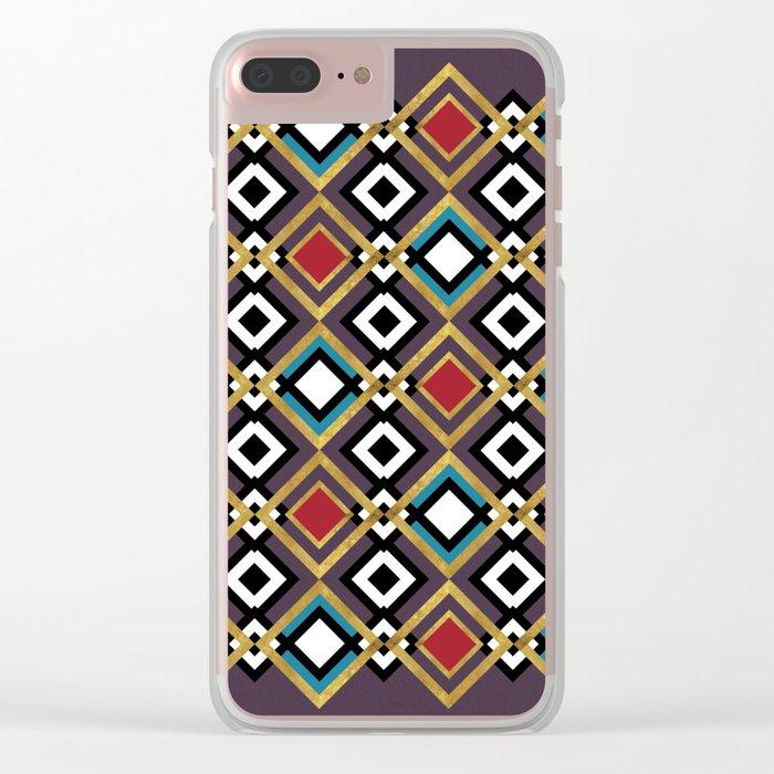 GÉOMÉTRIQUE Clear iPhone Case