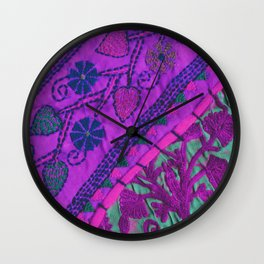 texture /pink  Wall Clock