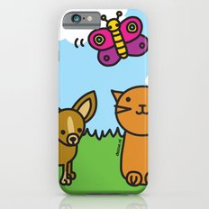 Butterfly, Cat and Dog iPhone 6s Slim Case