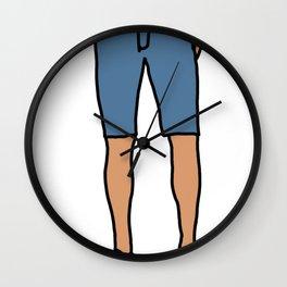 Skinny Shorts Hipster  Wall Clock