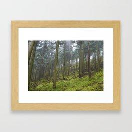 Up the Hill. Framed Art Print