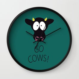 Go Cows Poster Wall Clock