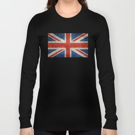 UK flag, High Quality bright retro style Long Sleeve T-shirt