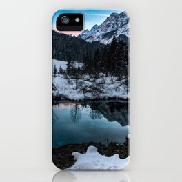 Zelenci springs at dusk iPhone Case