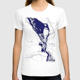 Mississippi River by La Crosse WI T-shirt