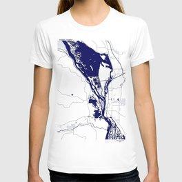 Mississippi River by La Crosse WI T-shirt