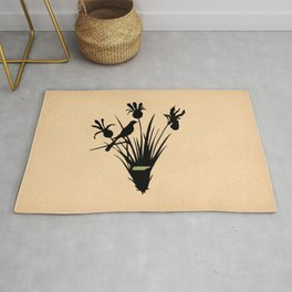 Tennessee - State Papercut Print Rug
