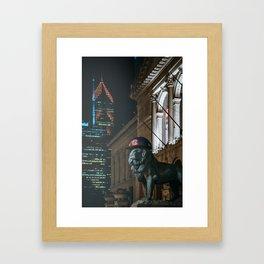 Breaking the Curse - World Series 2016 Framed Art Print