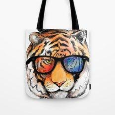tiger nerd Tote Bag