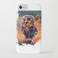 trex iPhone & iPod Cases featuring brave little owl by ururuty