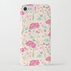 Pastel  floral pattern iPhone 7 Slim Case