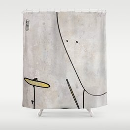 Tiomh from Nullom (drum) Shower Curtain