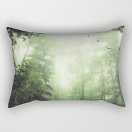 German Jungle - Forest in Morning Mist Rectangular Pillow