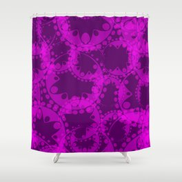 Spring pastel gentle purple circles and ellipses depicting abstract flowers. Shower Curtain